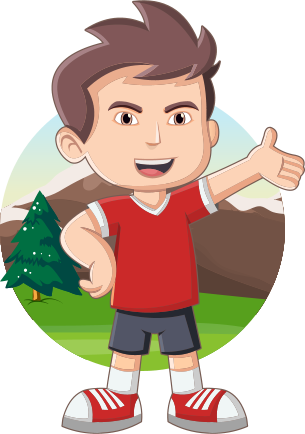 animated kid with nature background